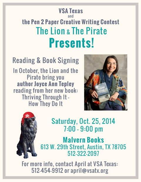 The Lion & The Pirate: Joyce Ann Tepley Reading & Book Signing
