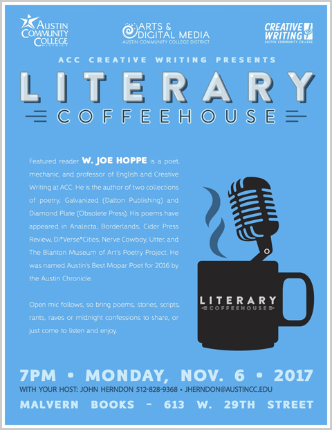 Austin Community College Literary Coffeehouse: Reading & Open Mic