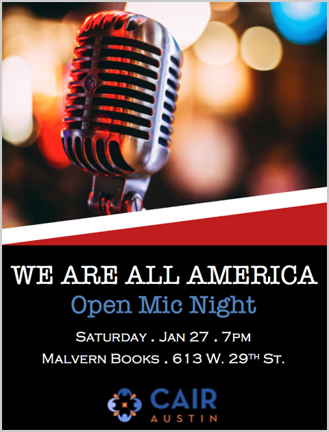 We Are ALL America! Open Mic Night